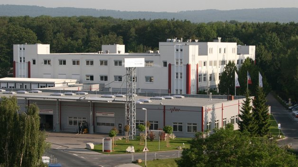 Der Firmenhauptsitz von Peiker in Friedrichsdorf/Taunus.