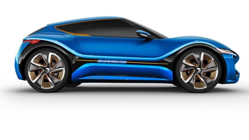 Auf dem Genfer Auto-Salon 2015 stellt die Schweizer Nanoflowcell den Quantino vor.