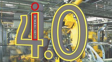 Industrieroboter bei der Automobilproduktion, Industrie 4.0