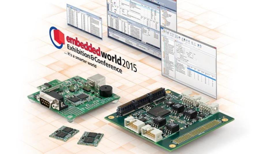 PEAK-System Technik stellt zur embedded world 2015 CAN-FD-Karten und -Module vor.