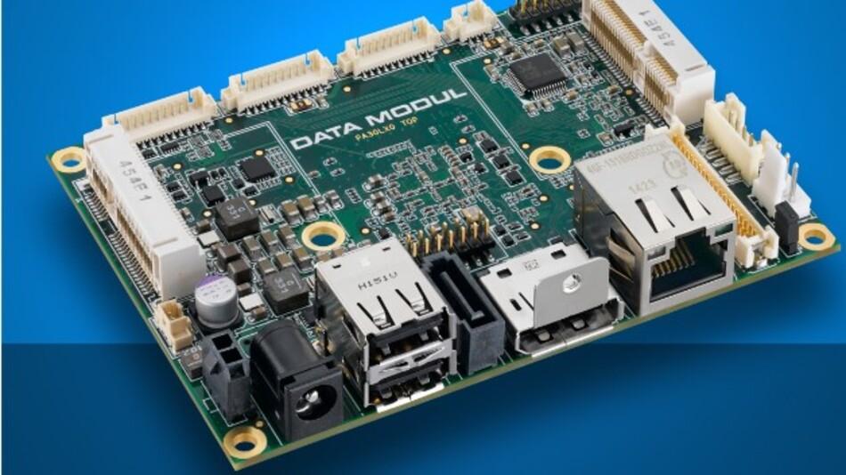 Data Moduls industrielles Pico-ITX-Board eDM-pITX-BT unterstützt nativ via DisplayPort eine Auflösung von bis zu 2560 x 1600 Pixel.