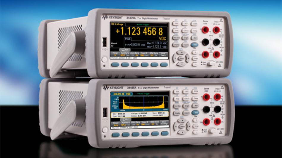 Die neuen Truevolt-DMMs 34465A und 34470A von Keysight Technologies.