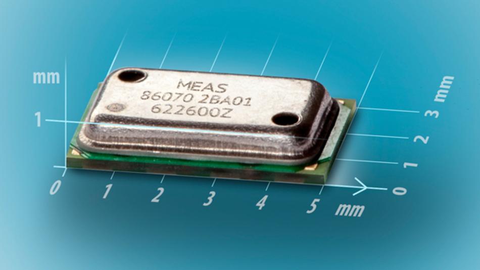 Der MS8607 misst den barometrischen Druck, die Temperatur und die Luftfeuchte.