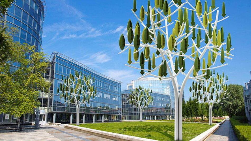 Windbäume - die städtische Variante eines Windrads..