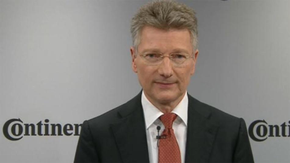 Elmar Degenhart, Vorsitzender des Vorstandts von Continental hält eine Partnerschaft mit Apple für nicht ausgeschlossen.