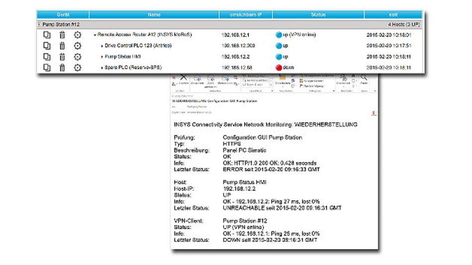 Mit der neuen Monitoring-Funktion, die allen Nutzern des »Insys Connectivity Service« jetzt kostenfrei zur Verfügung steht, lässt sich die Verfügbarkeit von IP-Geräten im eigenen Netzwerk überprüfen.