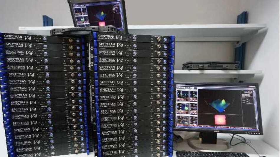 Detailreiche Informationen über das Ausbreitungsverhalten von HF-Emissionen bietet das System Spectran RF View von Aaronia