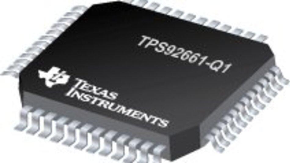 Der TPS92661-Q1 unterstützt eine individuelle PWM-Lichtstärkeregelung für jede einzelne LED in der Fahrzeugaußenbeleuchtung.