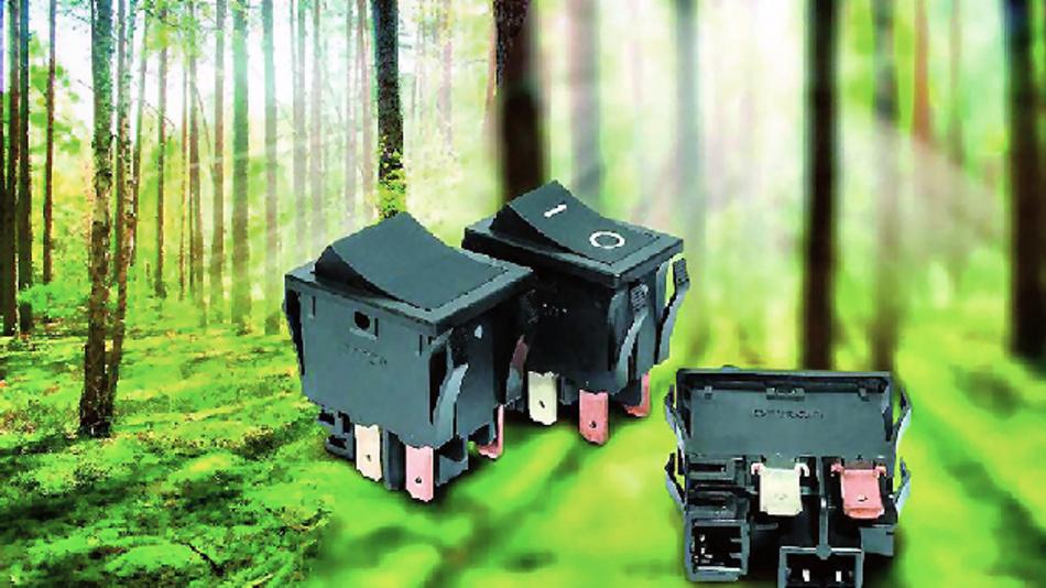 Der industrieweit kleinste Wippschalter A8GS mit Fernrücksetz-Funktion.
