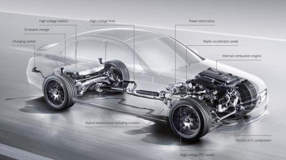 Der C 350 e ist das zweite Hybridmodell der neuen Mercedes-Benz C-Klasse.