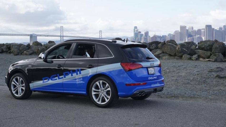 Völlig automatisiert von San Francisco nach New York: das fahrende Demo Auto von Delphi.