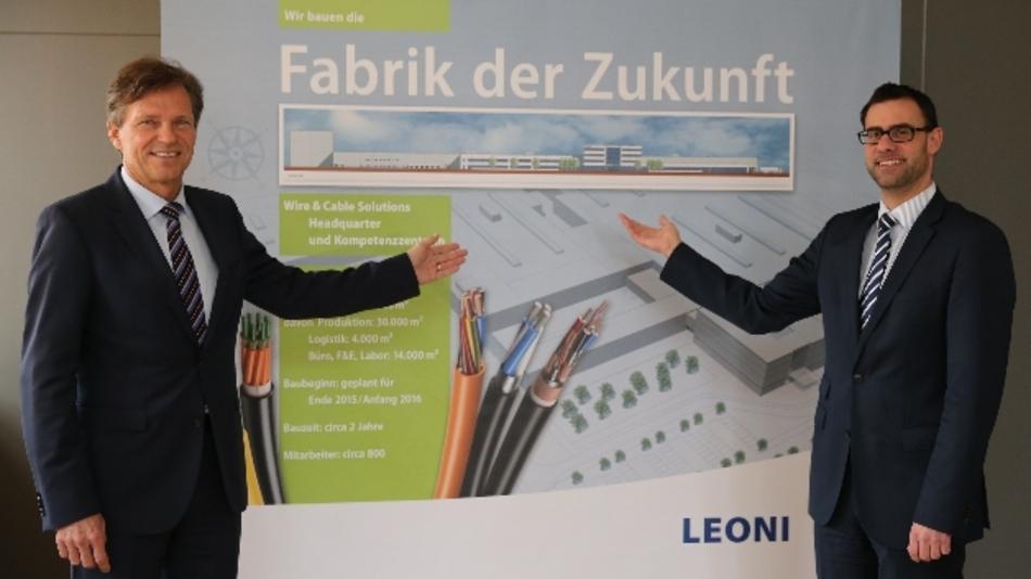 Blicken positiv in die Zukunft: Dr. Klaus Probst (links) und Ralph Edelhäußer sehen in dem Projekt nicht nur die Stärkung des Kerngeschäfts, sondern auch die Schaffung moderner Arbeitsplätze.