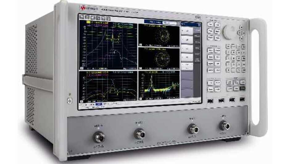Sechs neue Netzwerkanalysatoren mit intuitivem Bedienkonzept für den Frequenzbereich von 9 kHz bis 9 GHz: Der neue E5080A der ENA-Serie von Keysight Technologies.