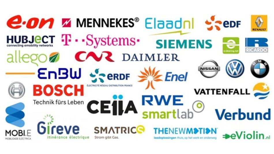 Mitgliedsunternehmen der Paneuropäischen eRoaming-Initiative