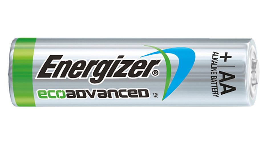 Laut Energizer die weltweit erste AA-Alkali-Batterie aus recycelten Batterien: Die EcoAdvanced.
