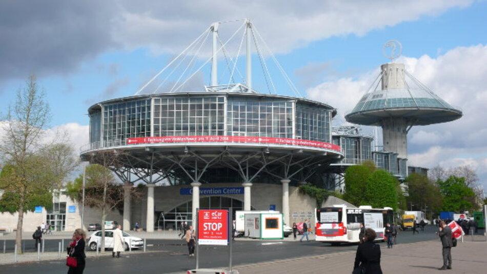 Das Convention Center des Messegeländes in Hannover