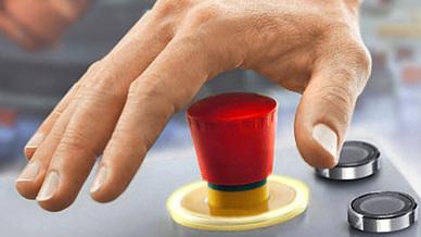 Not-Aus-Taster mit Hand