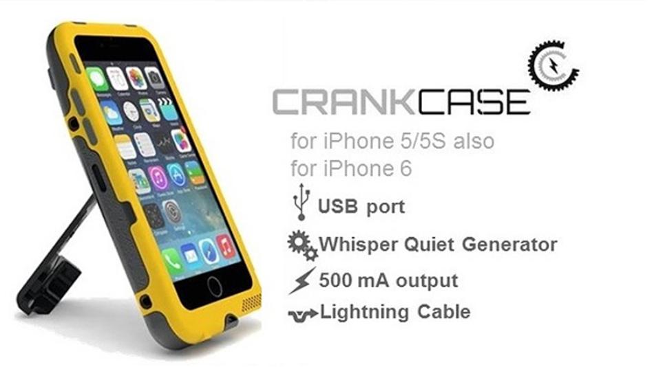 Ein neues Gadget für iPhones kommt aus Baton Rouge in Amerika: Ein Gehäuse mit ausklappbarer Kurbel.