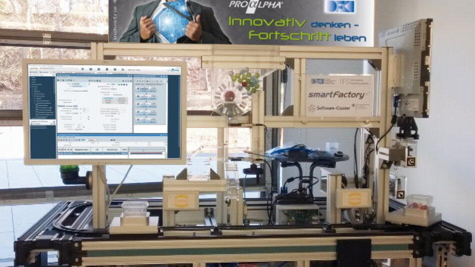 Ein Industrie-4.0-Demonstrator auf der CeBIT 2014 mit proALPHA als ERP-System