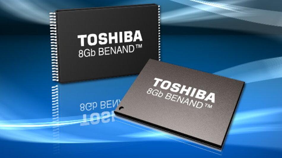 BENAND-Flash-Speicher stehen mit Speicherkapazitäten von 1GBit bis 8 GBit in 63- und 67-Ball BGA-Gehäusen zur Verfügung