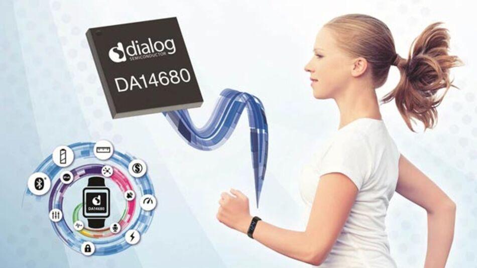 Der DA14680 enthält alles, was für ein Wearable nötig ist.