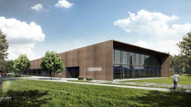 Die Frontseite des neuen CARISSMA-Testcenters für Fahrzeuge.