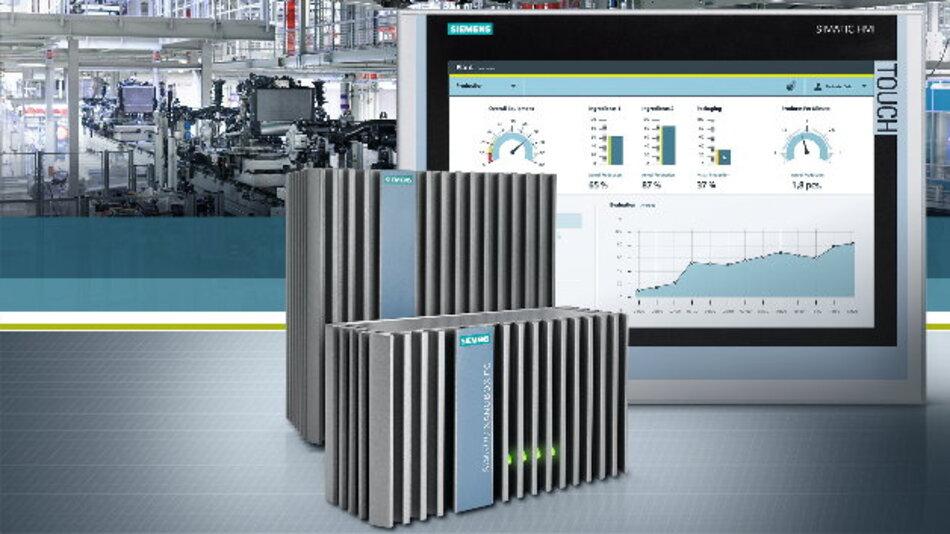 Siemens neue »Nanobox PC Simatic IPC227E« und »Nanopanel PC Simatic IPC277E« ermöglichen eine flexible Montage im Schaltschrank oder direkt in der Maschine.