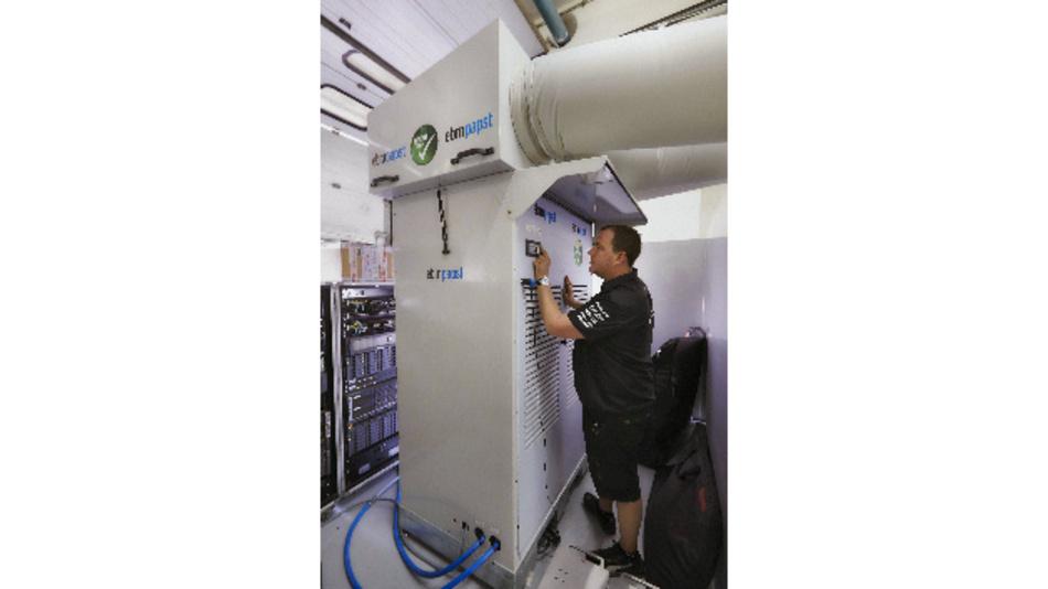 Bild 1: Boxenkühlung von ebm-papst