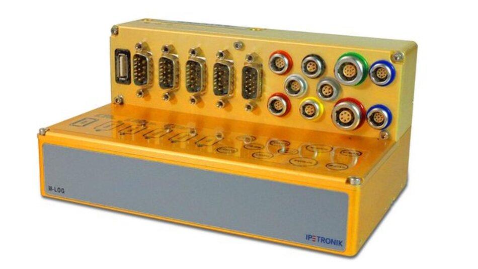 Der M-LOG V3 ist für Automobilentwicklungsabteilungen konzipiert, die viele CAN-Busse mit vielen Messsignalen und/oder hoher Datenrate messen müssen.