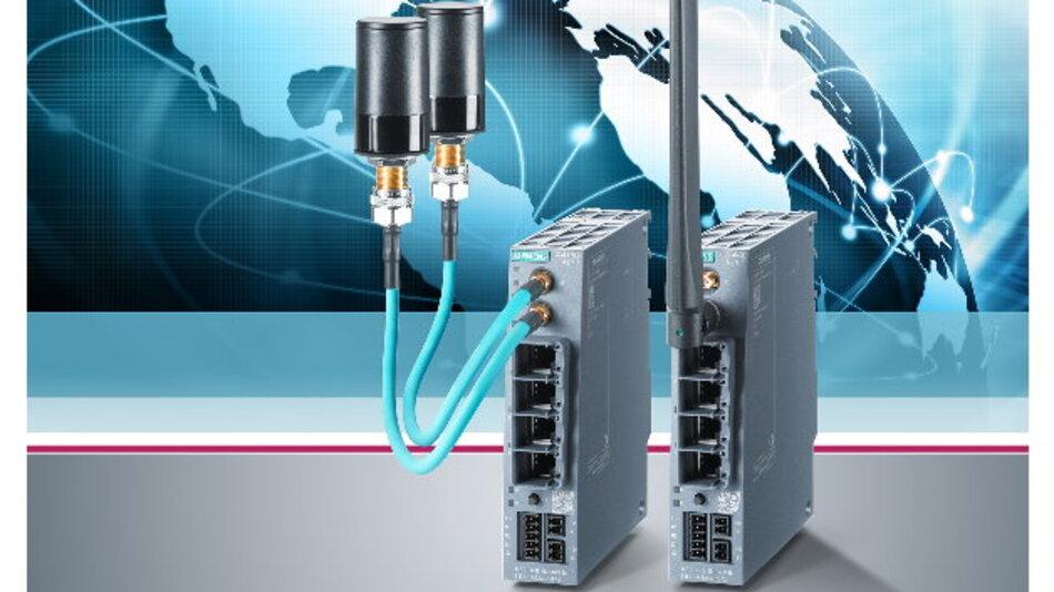Siemens ermöglicht mit den neuen Mobilfunk-Routern der Scalance-M-Familie die Kommunikation über UMTS und EVDO sowie per LTE.
