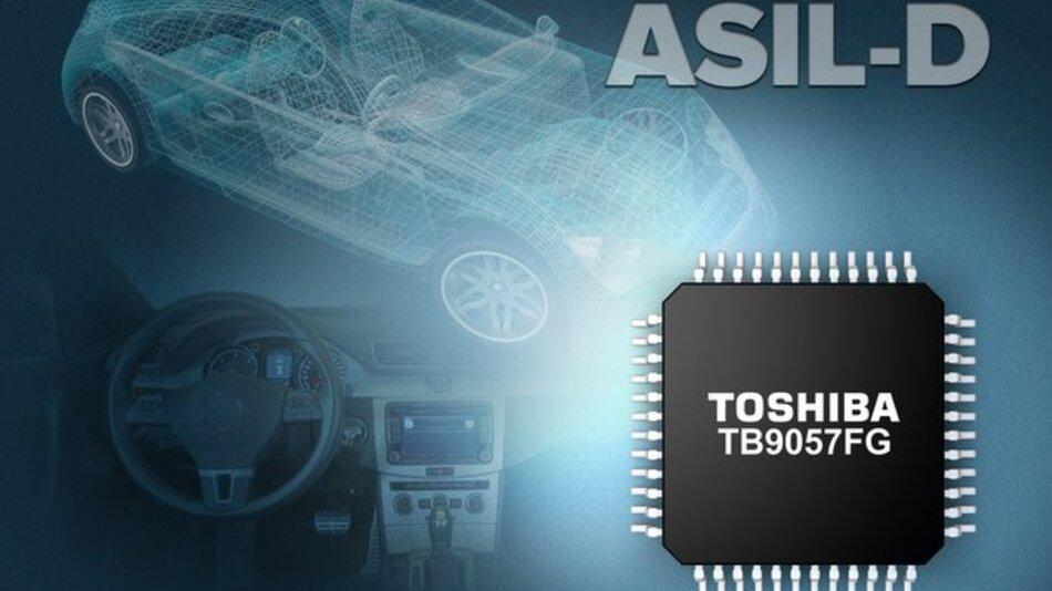 Der Baustein TB9057FG erfüllt die Anforderungen des Automotive Safety Integrity Level D (ASIL-D).