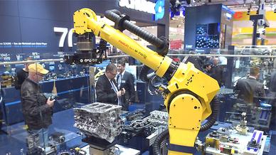 Fanuc-Roboter auf der Hannover Messe 2015