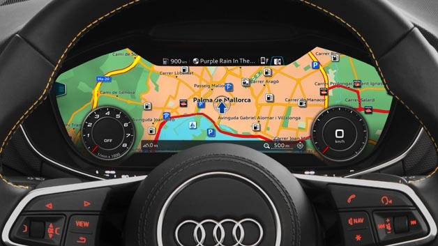 Virtual Cockpit im Audi TT Roadster