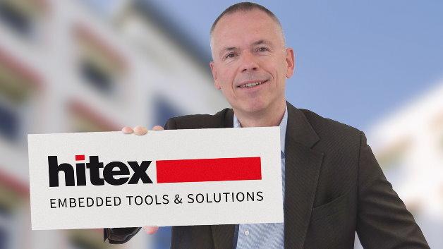 Frank Hoschar sieht die Umfirmierung zu Hitex und das angepasste Logo als Bekenntnis zur erweiterten Ausrichtung des Embedded-Tool-Spezialisten zum Lösungsanbieter