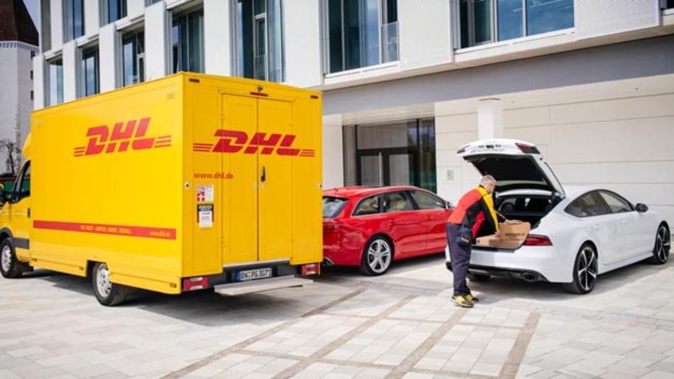 Paketzustellung in den Kofferraum mit Audi connect easy delivery