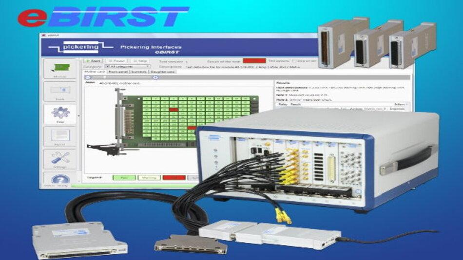 eBIRST spürt defekte Relais in PXI, PCI- oder LXI-Schaltkarten von Pickering Interfaces auf.