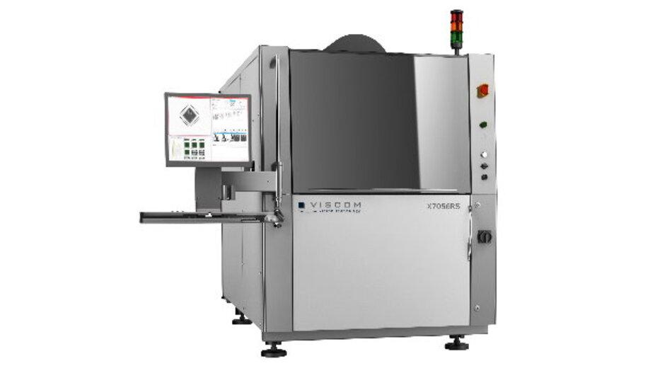 Jetzt auch mit Flat Panel Detektor - das 3D-AXI-System X7056 von Viscom