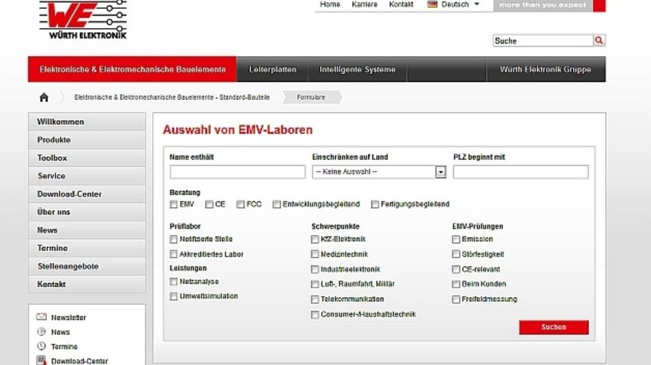 Praktische Suchfunktion zum Thema EMV an