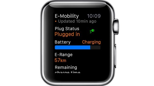 Porsche Car Connect für Apple Watch: Status-Anzeige E-Mobility bei E-Hybrid-Modellen