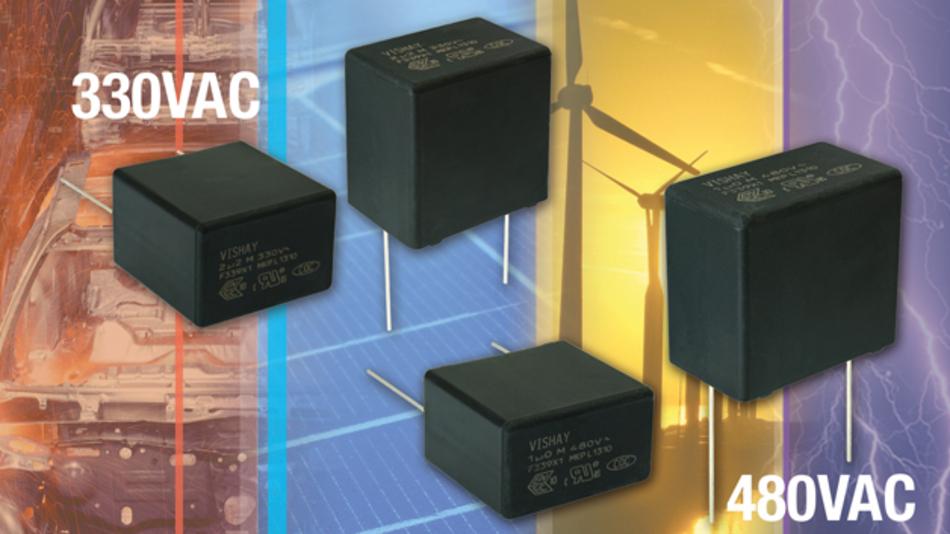Bild 2: Die Folienkondensatoren »F339X1 480 V« von Vishay eignen sich für dauerhaften direkten Netzanschluss