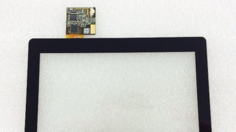Beim 7-Zoll-PCAP-Touch-Display UTP07P0N3PTGG von Display Solution sitzen die XY-Elektroden direkt auf dem Glas.