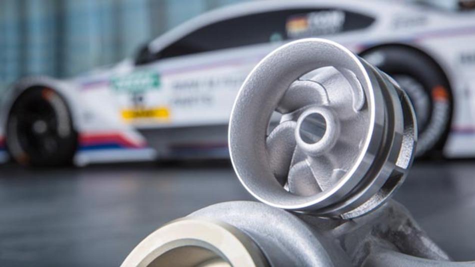 Wasserpumpenrad aus 3D-Drucker für Einsatz in DTM und Z4 GT3