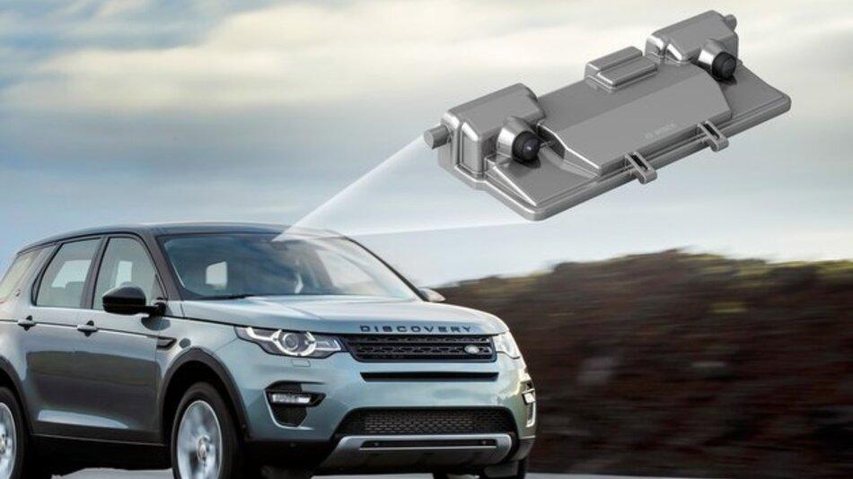 Land Rover bietet die Stereo-Videokamera von Bosch im neuen Discovery Sport serienmäßig an.