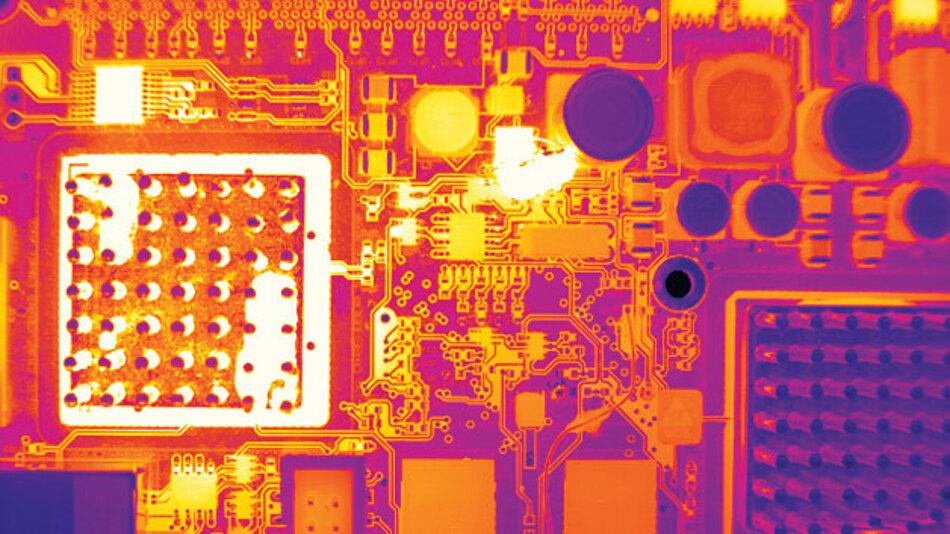 Defektfreie Aufnahmen von Wärmebildkamera