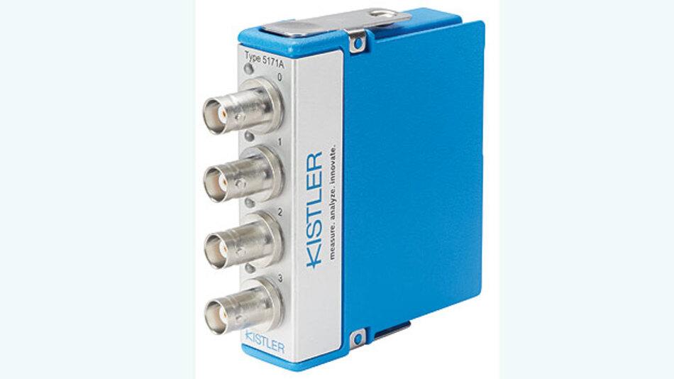 Bild 1. Der Ladungsverstärker Kistler 5171A ermöglicht die Einbindung von piezoelektrischen Sensoren in CompactRIO-Systeme.