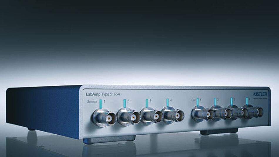 Bild 2. Neuste Ladungsverstärker wie der Kistler LabAmp 5165A liefern Sensorsignale direkt in digitalisierter Form.