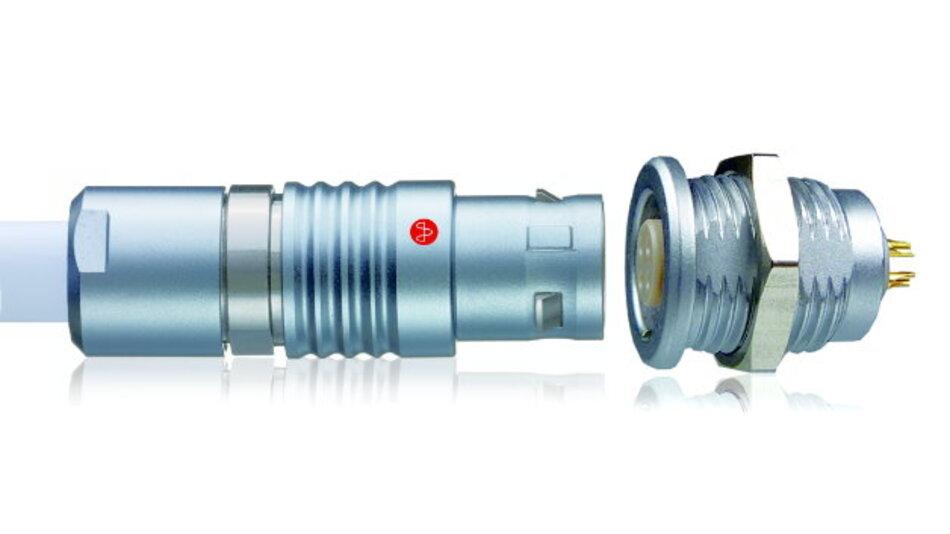 Push-Pull-Rundsteckverbinder der Serie »Y-Circ P«.