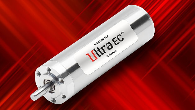 Für Hochleistungs-Anwendungen ist der bürstenlose 16-mm-Motor 16ECH von Portescap ausgelegt.