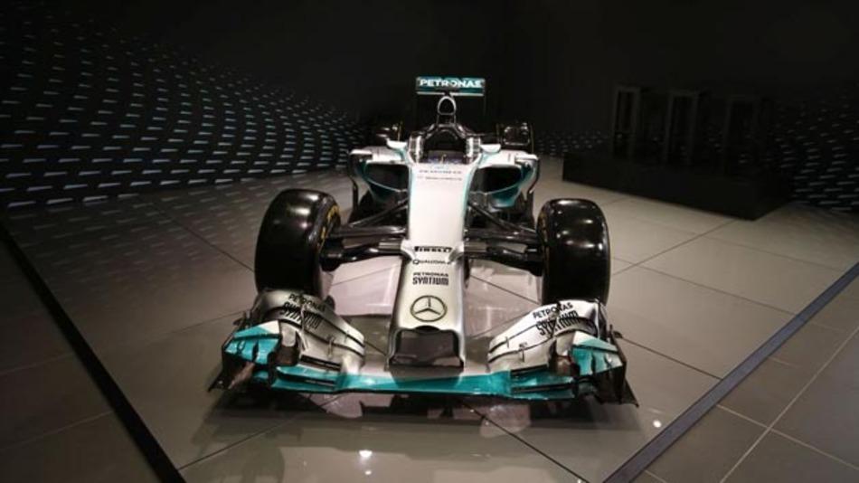 Rennwagen des Mercedes AMG Petronas Formel 1 Teams