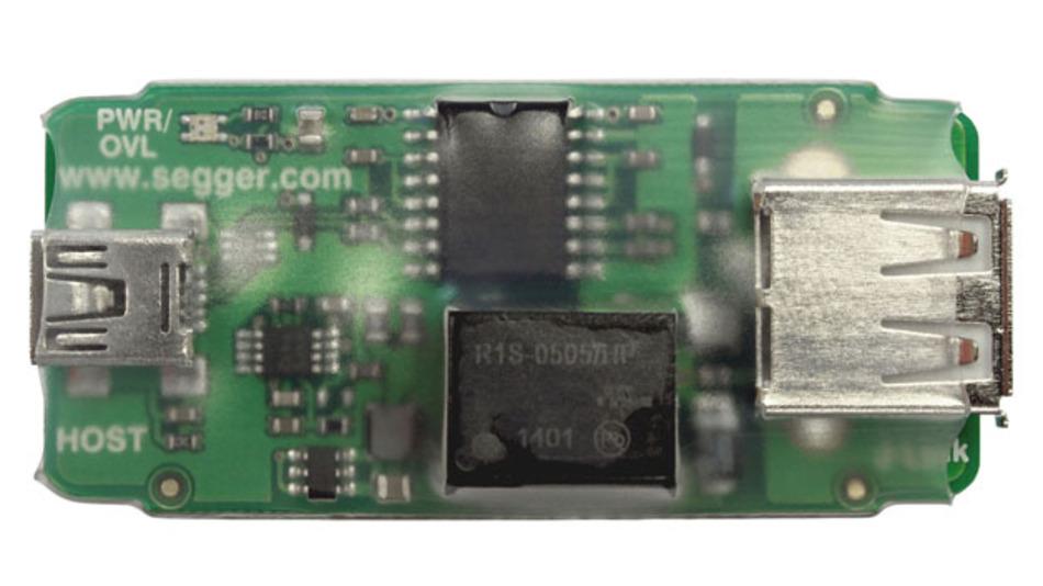 Der USB-Isolator entkoppelt Entwicklungs- und Zielsystem.
